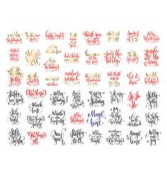 set of 50 hand lettering inscription celebration vector image vector image
