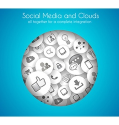 Social Media and Cloud concept background vector image vector image