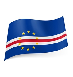 State flag of cape verde vector