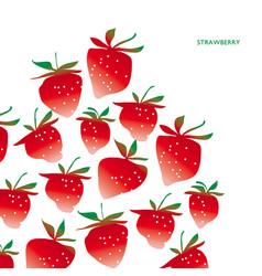 strawberry design element vector image