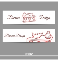 SweetsBanners3 vector image