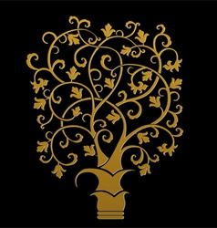 The golden tree symbol vector