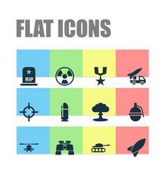 Warfare icons set collection of dangerous order vector