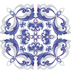 Damask ornament vector