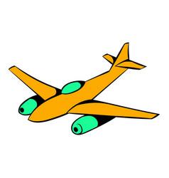 fighter aircraft icon icon cartoon vector image
