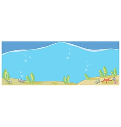 Underwater seascape vector