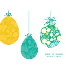 Emerald flowerals hanging easter eggs vector