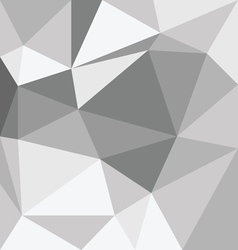 Abstract gray 3d interior with polygonal pattern o vector