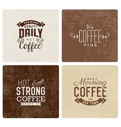 Vintage coffee badges and typographic elements vector