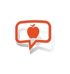 Apple message sticker orange vector