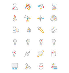 Science colored outline icon 1 vector