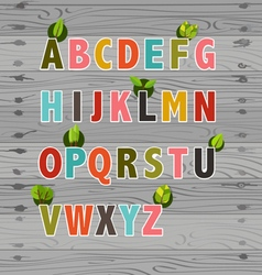 Letters with flowers alphabet vector