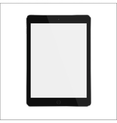 Black realistic smart tablet with blank white vector