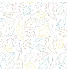 Feathers seamless background vector