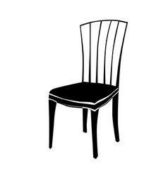 Art deco chair silhouette vector