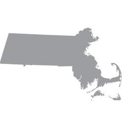 Map of the us state of massachusetts vector