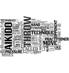 Aikido fundamentals text word cloud concept vector