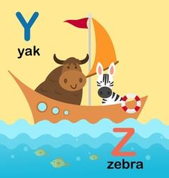 Alphabet y z vector