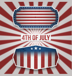 american 4th of july holiday banners vector image