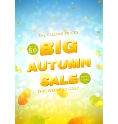 Big autumn sale flyer vector