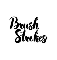 Brush strokes handwritten calligraphy vector