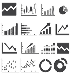 Business infographics icons vector image vector image