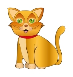 cat pet mascot cute isolated vector image vector image