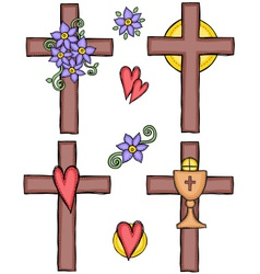 Crosses vector