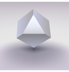 Cube with cropped center place for text vector image