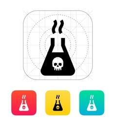 Dangerous substance icon vector