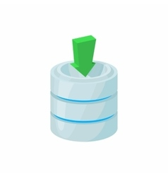 Download database icon cartoon style vector image vector image