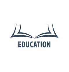 education logo education and book emblem vector image vector image