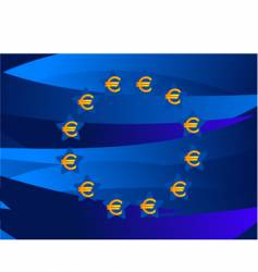 Europe currency symbols vector image vector image