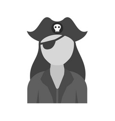 Female pirate vector