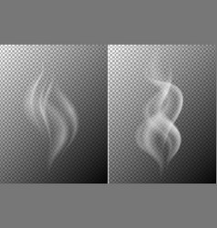 Gray background with white smoke vector