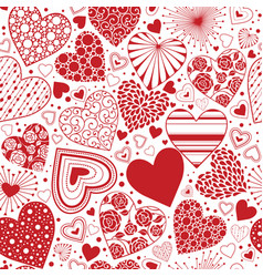 hearts seamless background vector image