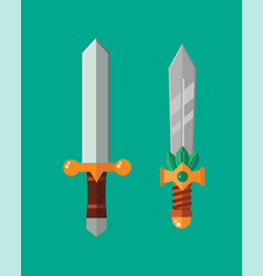 knife weapon dangerous metallic sword vector image vector image
