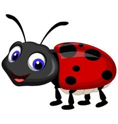 Ladybug cartoon vector image vector image