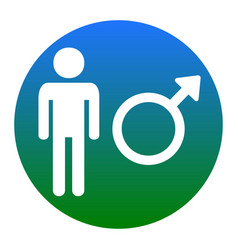 Male sign white icon in vector