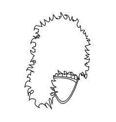 Mask with hair for the scotthe scottish national vector