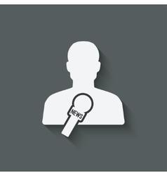 News reporter media symbol vector