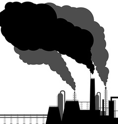 Pollution black silhouette on a white background vector