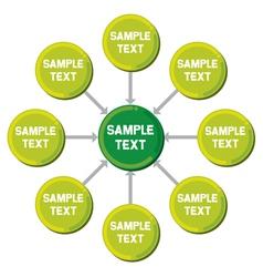 presentation diagram vector image vector image