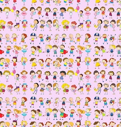 Seamless children movements vector image vector image