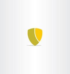shield simple icon design vector image vector image
