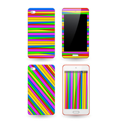 template background and cover for smartphone vector image