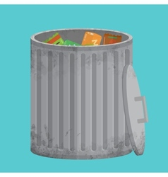 Trash can icon xxl vector image vector image