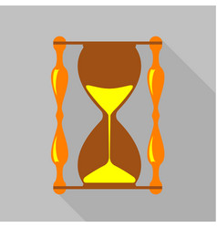 Vintage hourglass icon flat style vector