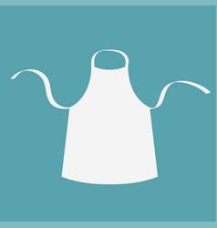 White blank kitchen cotton apron uniform for cook vector