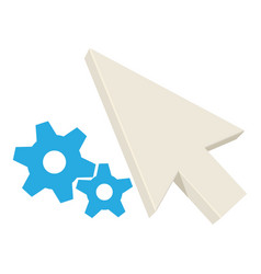 working pointer icon cartoon style vector image